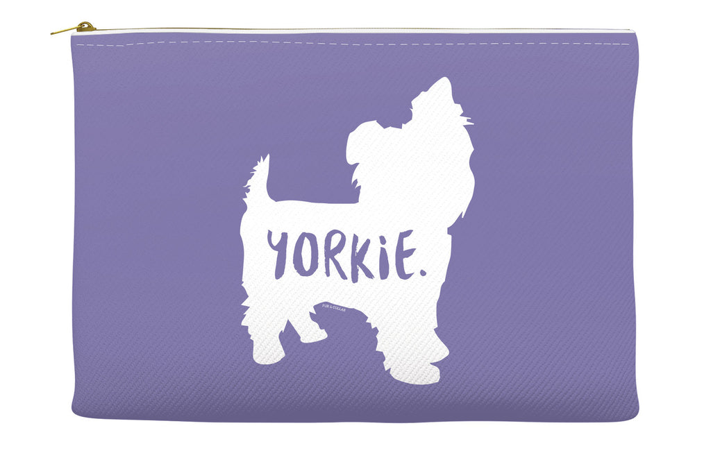 Purple Yorkie Accessory Pouch