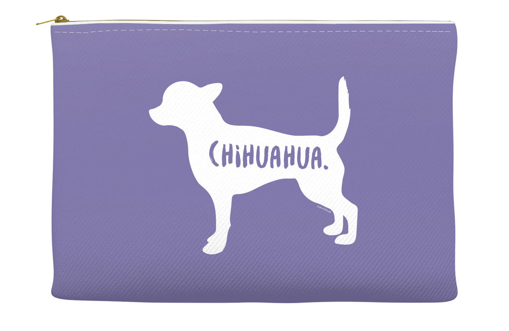 Purple Chihuahua Accessory Pouch