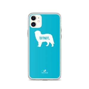 Bernese Mountain Dog Phone Case - Blue