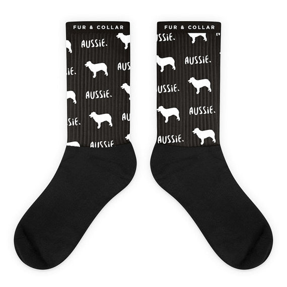 Australian Shepherd Socks - Fur & Collar - 4