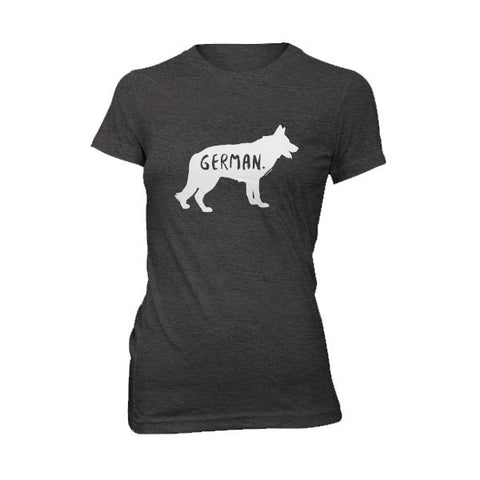 German Shepherd Women's T-Shirt - Fur & Collar