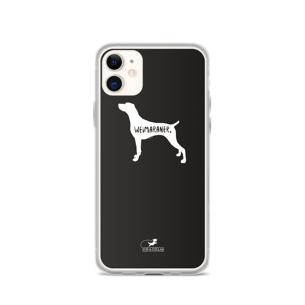 Weimaraner Phone Case - Black