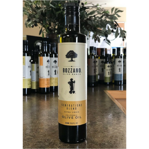 500 mL Generations Blend EVOO from 2018 Harvest from Bozzano Olive Ranch