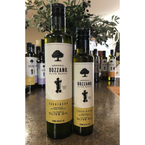 250mL & 500mL Taggiasca Organic Extra Virgin Olive Oil from Bozzano Olive Ranch