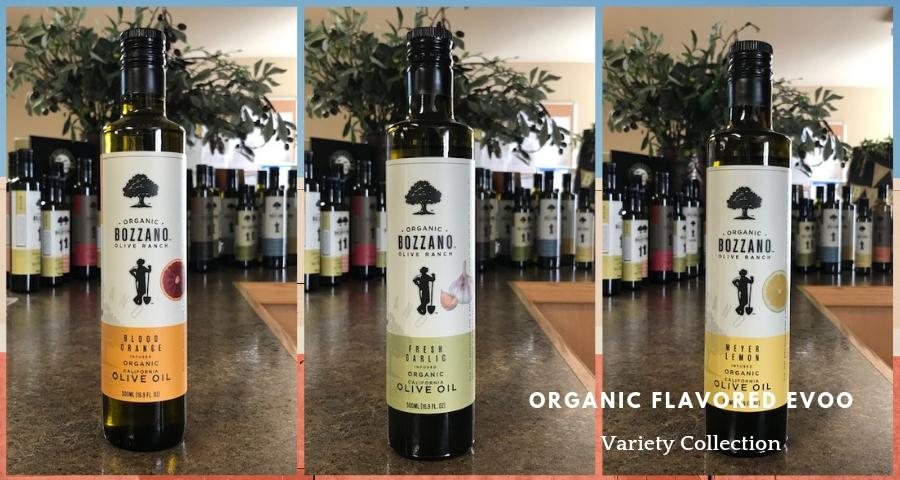 Bozzano Olive Ranch Organic Flavored EVOO collection
