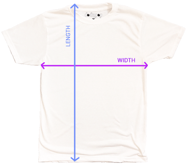 DorkyPop Shirt Measurement