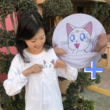 Kawaii Artemis Pocket Tee (Long Sleeve) - DORKYPOP