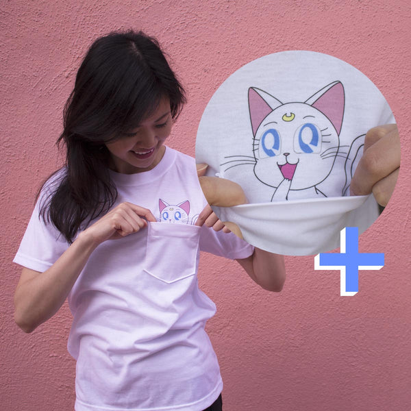 Kawaii Artemis Pocket Tee - DORKYPOP