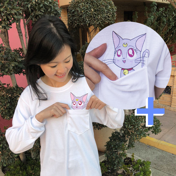 Kawaii Diana Pocket Tee (Long Sleeve)