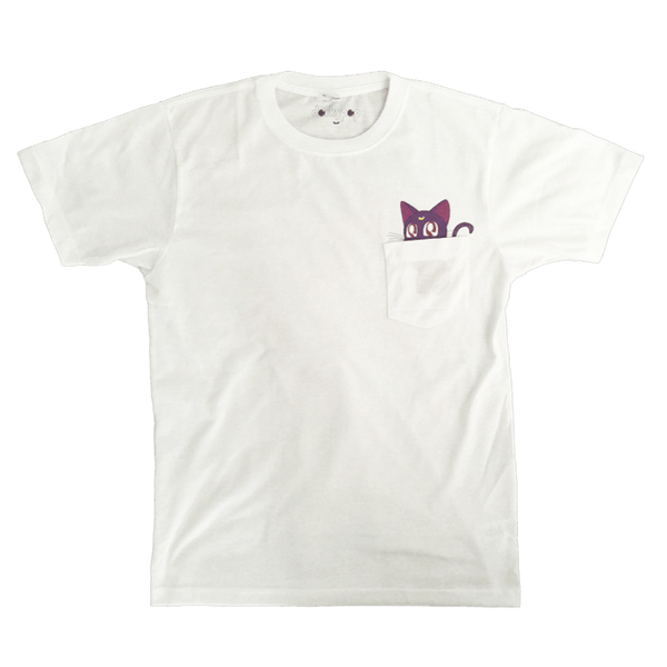 Kawaii Luna Pocket Tee - DORKYPOP