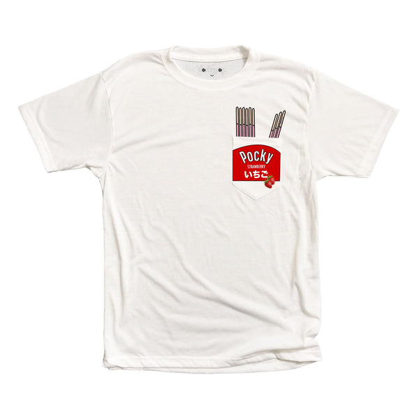 Strawberry Pocky Pocket Tee - DORKYPOP
