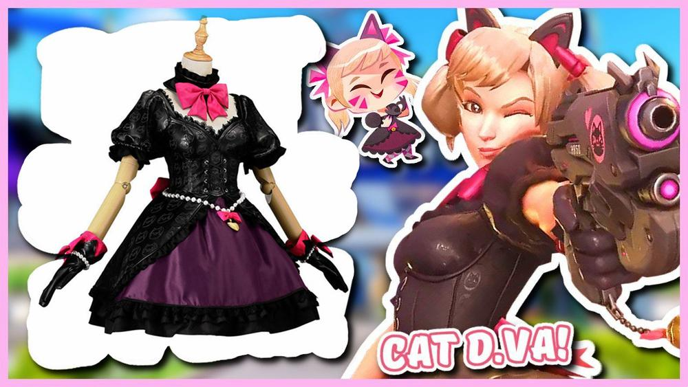 D.Va Cat Girl Black Lolita Dress