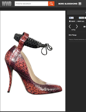 Thank You WWD.com, featuring Manolo Blahnik x #mimiplange