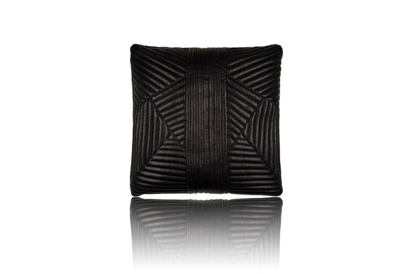 Noir Quilted Pillow - Mimi Plange