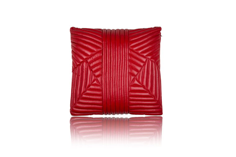 Rouge Quilted Pillow - Mimi Plange