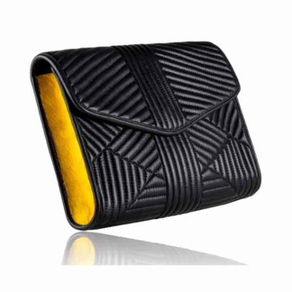 Black Quilted Leather Clutch - Mimi Plange - 2