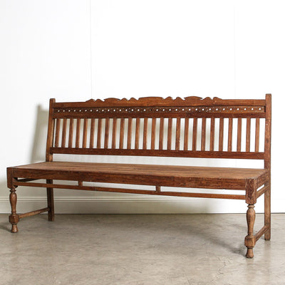IFU0720-028 Vintage Indian Bench Seat