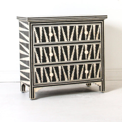 Mandika Bone Inlay 3 Drawer Chest