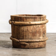 CDE1019-03 Chinese Vintage Wine Barrel - Short