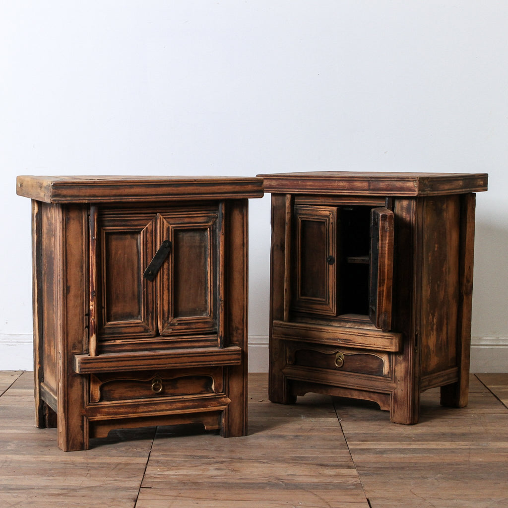 CFU1017-55 Pair of Antique Small Cabinets (bedsides)