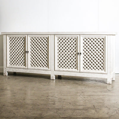 CFU1019-30 WH Marbella 4 Door Sideboard