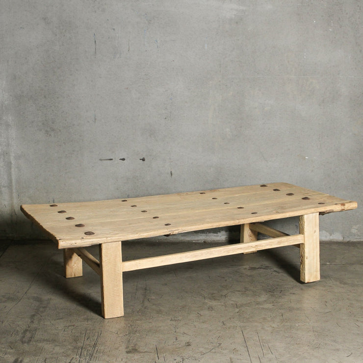 CFU1019-40 A Chinese Elm Old Door Coffee Table