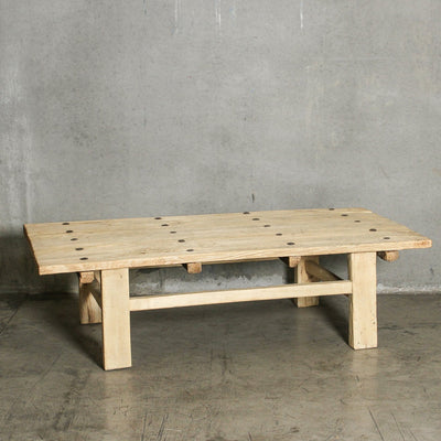 CFU1019-40 C Chinese Elm Old Door Coffee Table