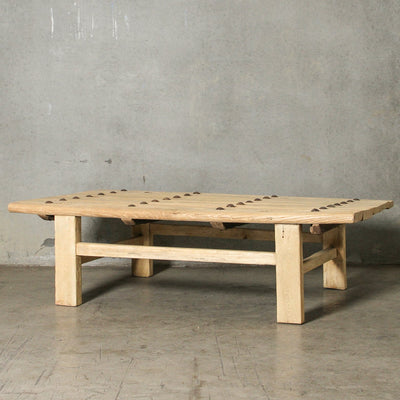 CFU1019-40 D Chinese Elm Old Door Coffee Table