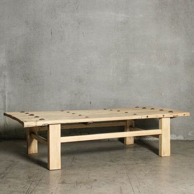 CFU1019-40 F Chinese Elm Old Door Coffee Table