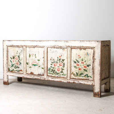 CFU1118-19 Chinese Floral 4 Door Sideboard