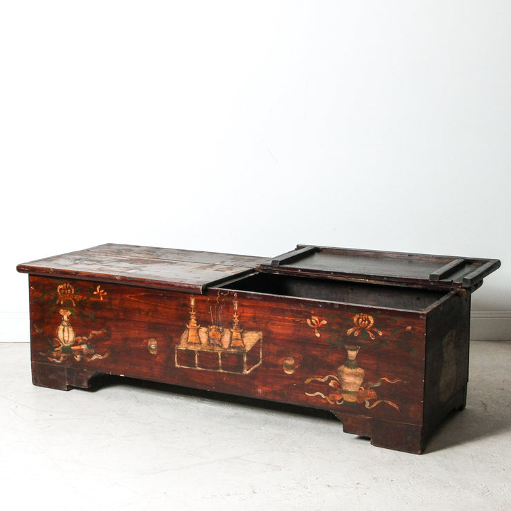 CFU1118-24 Old Chinese Painted Coffee Table
