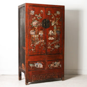 CFU1118-26 Old Chinese Painted Elm Wardrobe