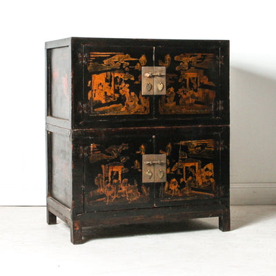 CFU1118-34 Old Chinese Painted  Cabinet