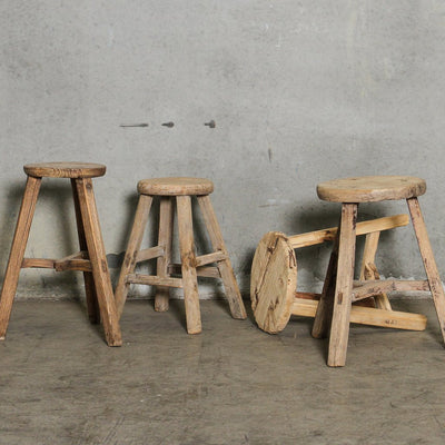 CFU1120-03 Chinese Workers Stool Round