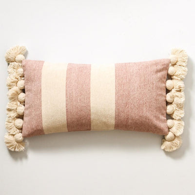 Dusty Pink Stripe Cushion