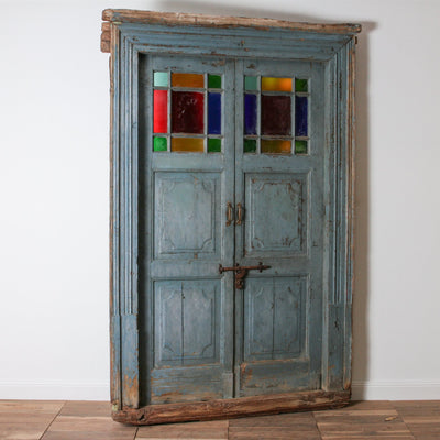 IAE1117-03 Vintage Indian Doors with Frame
