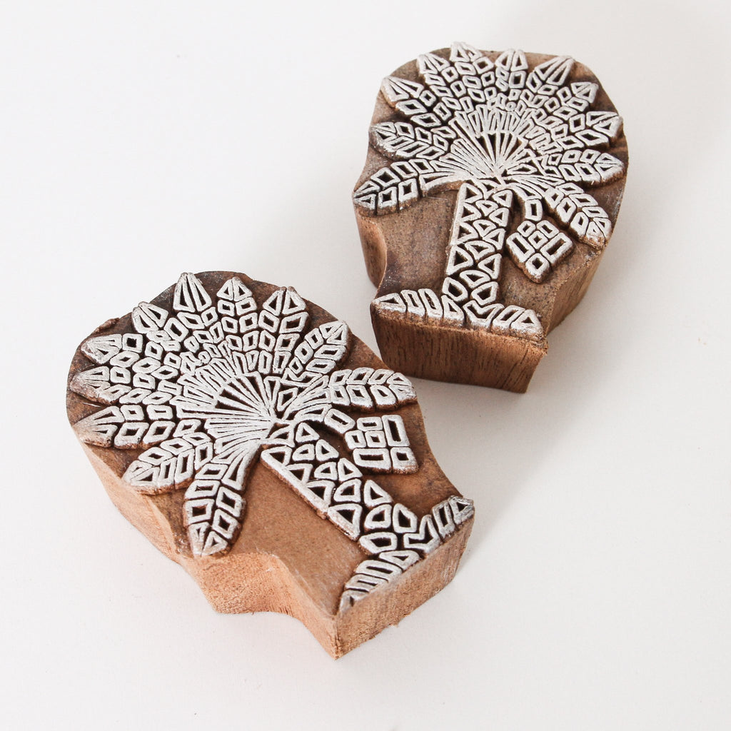 Date Palm Wooden Print Block