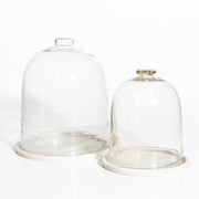 IDE0121-01 Glass Dome with Marble Base - Large