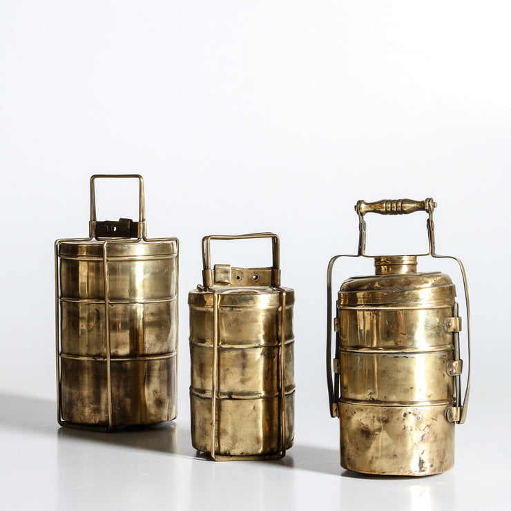 IDE0321-17 Indian Brass Lunch Box