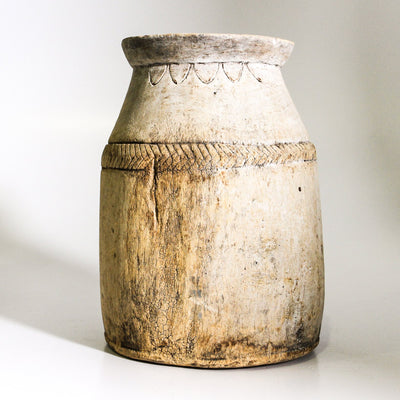 IDE0720-009 C Vintage Indian Oil Pot