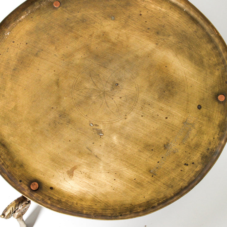 IDE1119-23 Indian Brass Offering Platter