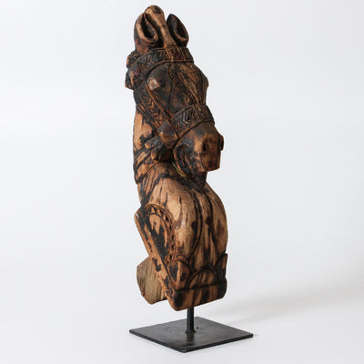 IDE1217-25 Vintage Carved Horse on a stand