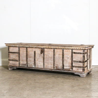 IFU0320-51 Vintage Indian Chest Coffee Table