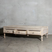 IFU0321-49 Vintage Indian 3 Drawer Coffee Table