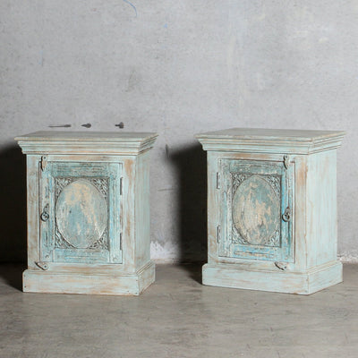 IFU0321-89 Pair of Vintage Indian Bedsides