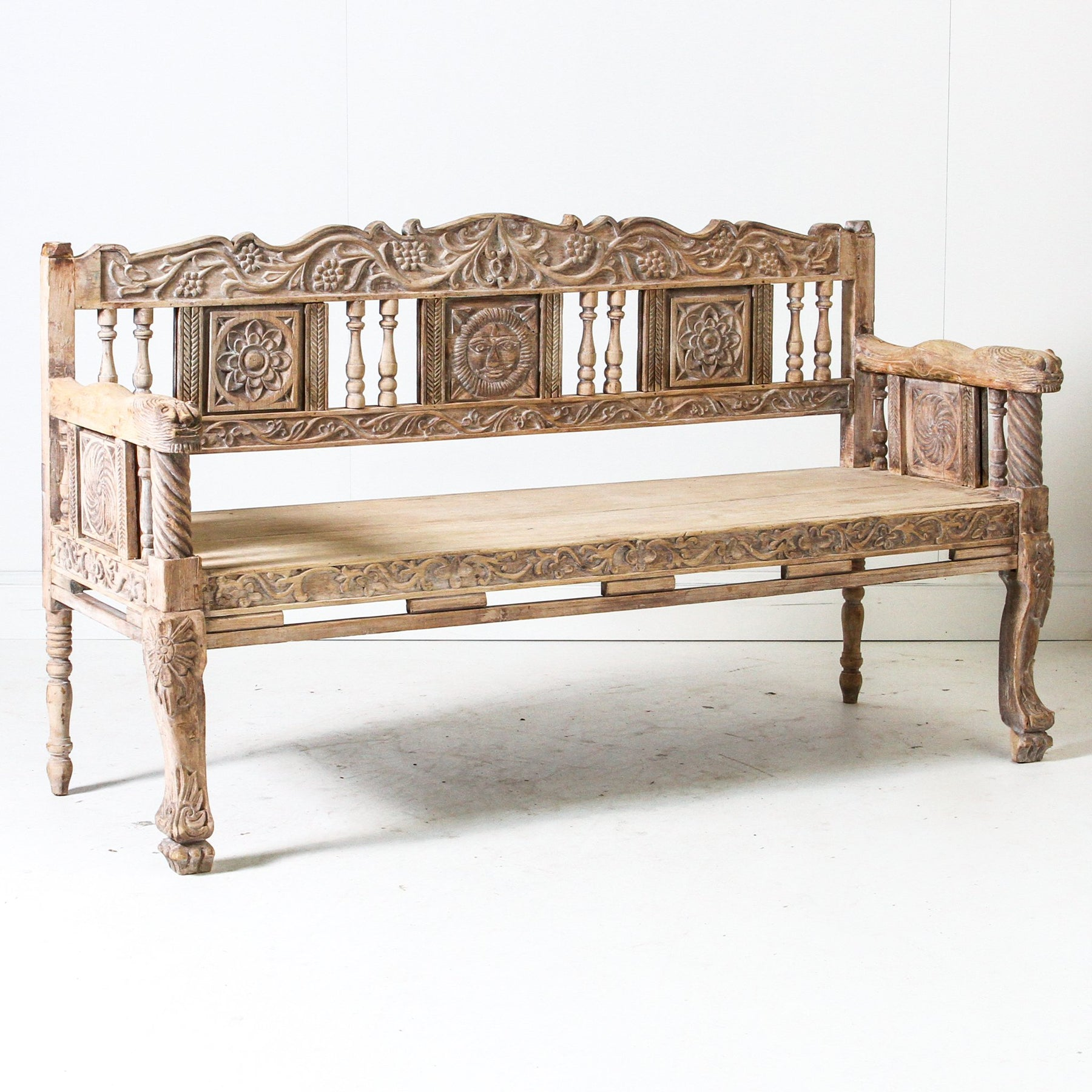 Amazing Ifu0519 09 Vintage Indian Bench Seat Indigo Love Collectors Pdpeps Interior Chair Design Pdpepsorg