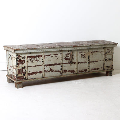 IFU0618-59 Vintage Indian Wooden Chest