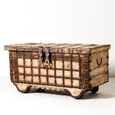IFU0619-53 Vintage Indian Chest Coffee Table