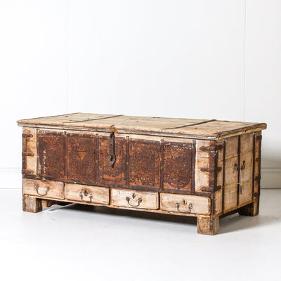 IFU0619-54 Vintage Indian Chest Coffee Table