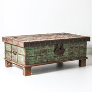 IFU0619-61 Vintage Indian Chest Coffee Table